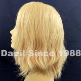 Peluca del pelo de la mujer con el pelo humano natural