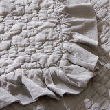 Großhandelshauptgewebe gewaschene Baumwollgraue gesteppte Bettdecke-Zudecke