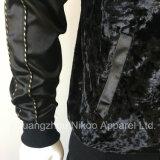 단추를 가진 주문 자수 로고 형식 용기 공단 재킷