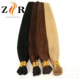 Extensão minúscula desenhada natural do cabelo humano da ponta do cabelo chinês da cor escura