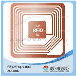 Etiqueta autoadesiva feita sob encomenda da freqüência ultraelevada do estrangeiro 9762 RFID da freqüência ultraelevada