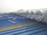 ガラス工場FRPの軸流れの換気扇