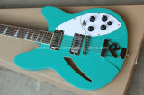 La musique Hanhai / 12-string Semi-Hollow guitare électrique avec corps bleu