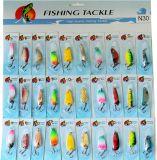 30PCS Assorted il richiamo stabilito di pesca del cucchiaio di pesca combinato