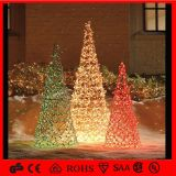 H: 7.5m LED Lighting Balls Christmas Trees Metal Christmas Tree Ornaments