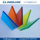 Segurança do prédio personalizado em vidro colorido temperado vidro tingido de vidro de Impressão Digital