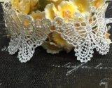 高品質の蝶水溶性のトリムの刺繍のレース