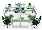 Hotsale Querzelle-Partition-moderner Büro-Eichen-Tabellen-Arbeitsplatz (SZ-WS028C)