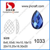 Pujiang Factory Flat Back Decorative Drop Glass Stone for Garment