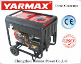 Groupe électrogène diesel simple refroidi par air de bâti ouvert de moteur diesel de cylindre de Yarmax 4.8kVA 5.2kVA Genset Ym7500eb-I