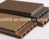 Decking composé en plastique en bois avec des matériaux de WPC
