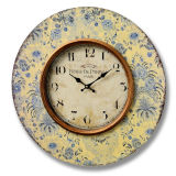 2016 Hot-Sale Antique Decorative Round Colorful Wood Wall Clock