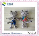 Het olympische Zachte Stuk speelgoed van de Zwemmer van de Luipaard van de Pluche van de Mascotte Leuke