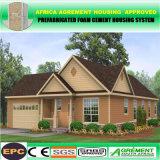Casa prefabbricata mobile modulare d'acciaio del pannello a sandwich del cemento della gomma piuma di ENV