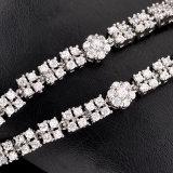 Комплект ювелирных изделий венчания CZ Rhinstone золота Bridal ювелирных изделий белый кристаллический