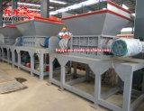 二重シャフトのスクラップの鋼鉄前処理ライトプラスチック木製シートの在庫の金属の粉砕機