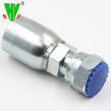 高性能の鋼鉄ホースのコネクターの油圧装置のひだの付属品