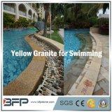 El chino de piedra de granito Amarillo/piscina mosaico para hacer frente/natación piscina/Surround pavimentación