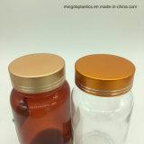 225mlカルシウムタブレットのためのこはく色の明確な円形のプラスチック丸薬包装業者のびん