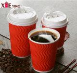 100% biodégradable Mur d'ondulation du papier personnalisé tasse de café chaud