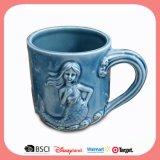 Caneca de cerâmica antiga personalizado Cup com estilo de relevo para o mar