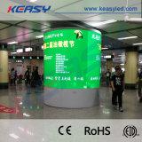 풀 컬러 주문을 받아서 만들어진 LED 스크린을 광고하는 P3 기둥