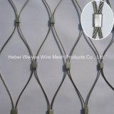 Aço inoxidável lado Tecidos de malha de cabos para o Zoo de vedações