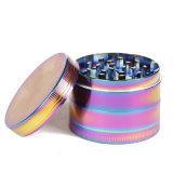 4layers 50mm 아연 합금 담배 관을%s 다채로운 나물 분쇄기