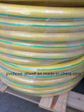 Trenzado de fibras flexibles de PVC de color azulado de agua de manguera de jardín