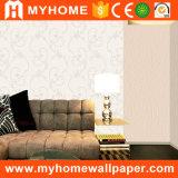 Décoration maison papier peint damassé avec belle fleur