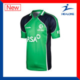 Healong Sportswear sublimación Mens sublima el críquet Jerseys Teamwear