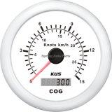 Haute qualité 85mm Noir/Blanc Cadre en acier inoxydable de compteur de vitesse GPS Velometer 15 noeuds pour le transport maritime