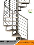最もよい価格のステンレス鋼およびカシ木ステアケース