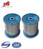 Гальванизированная веревочка стального провода 6X7+FC/Sc кабеля в малом пластичном вьюрке