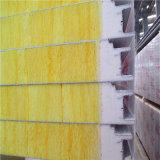 Prix de la laine de verre isolé de PU mur Puf panneau sandwich de feuille
