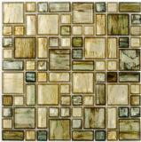 洗面所Decorationのための青いCrystal Mosaic