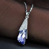 紫色の水晶Penantの模造方法ネックレスの宝石類