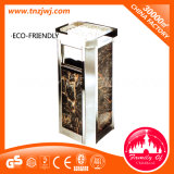 Nouvelle conception en acier inoxydable Outdoor Trash Can Garden Dustbin