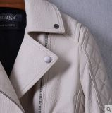 新しいデザイン熱い販売の女性の本革のジャケット