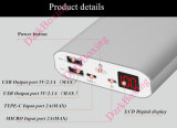 Resistente al agua portátil RoHS 26500mAh dos puertos USB cargador de teléfono del banco de potencia