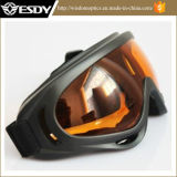 Occhiali di protezione tattici arancioni di protezione della polvere del vento del X.400 di Airsoft