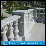 Balustrade de granit en pierre naturelle jaune G682 / G603 / 562 pour escaliers extérieurs