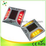 Clignotement des voyants LED d'aluminium solaire Intelligent Cat Eye goujon de route
