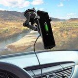 cargador de coche para el iPhone X rápido Qi Wireless Cargador de teléfono móvil con soporte para el Samsung Galaxy para el iPhone 8