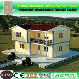 Casa prefabricada de la casa modular prefabricada del edificio del bastidor de estructura de acero