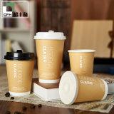 Vaso de papel para la bebida caliente café caliente