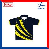 Healong China Fabrik-Preis Sports Polo-Hemden der Kleid-Gang-Sublimation-Männer für Verkauf