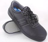 Zapatos de seguridad antis estupendos patentados del negro del patín