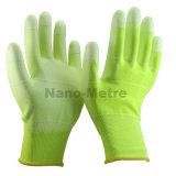 Красочный Anti-Static Nmsafety ESD PU покрытием перчатки