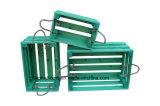 Pâques vert style Vintage Affichage Boîte en bois de la Caisse d'Apple